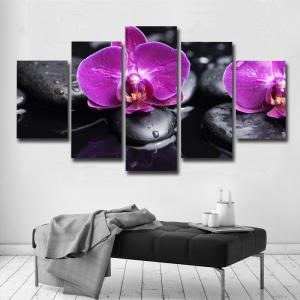 Art Posters And Prints Frames Canvas Flower 5 Pieces -