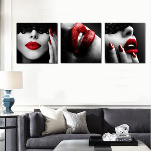 Abstract Girl Home Decoration Canvas Painting 3 Pcs -