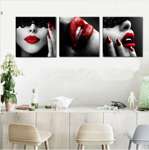 Buy Abstract Girl Home Decoration Canvas Painting 3 Pcs
