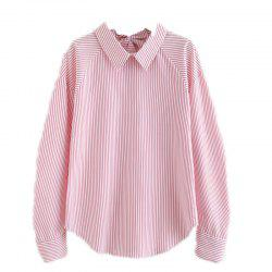 Back Line Bow Striped Shirt -
