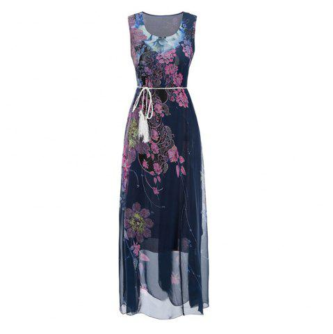 New Fashion Beach Long Dress Slim Chiffon Bohemian Dress