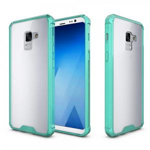 Cover Case for A5 2018 / A8 2018 Luxury Shockproof Hybrid Armor Crystal Hard PC Back Full Protection Coque Fundas -