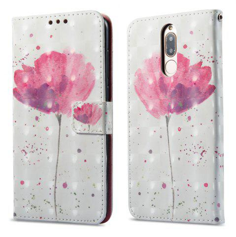 Fancy 3D Painting Filp Case for Huawei Mate 10 Lite / Maimang 6 Lotus Pattern PU Leather Wallet Stand Cover