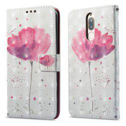 3D Painting Filp Case for Huawei Mate 10 Lite / Maimang 6 Lotus Pattern PU Leather Wallet Stand Cover -