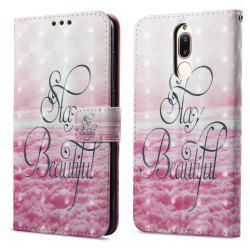 3D Painting Filp Case for Huawei Mate 10 Lite Pink Cloud Pattern PU Leather Wallet Stand Cover -