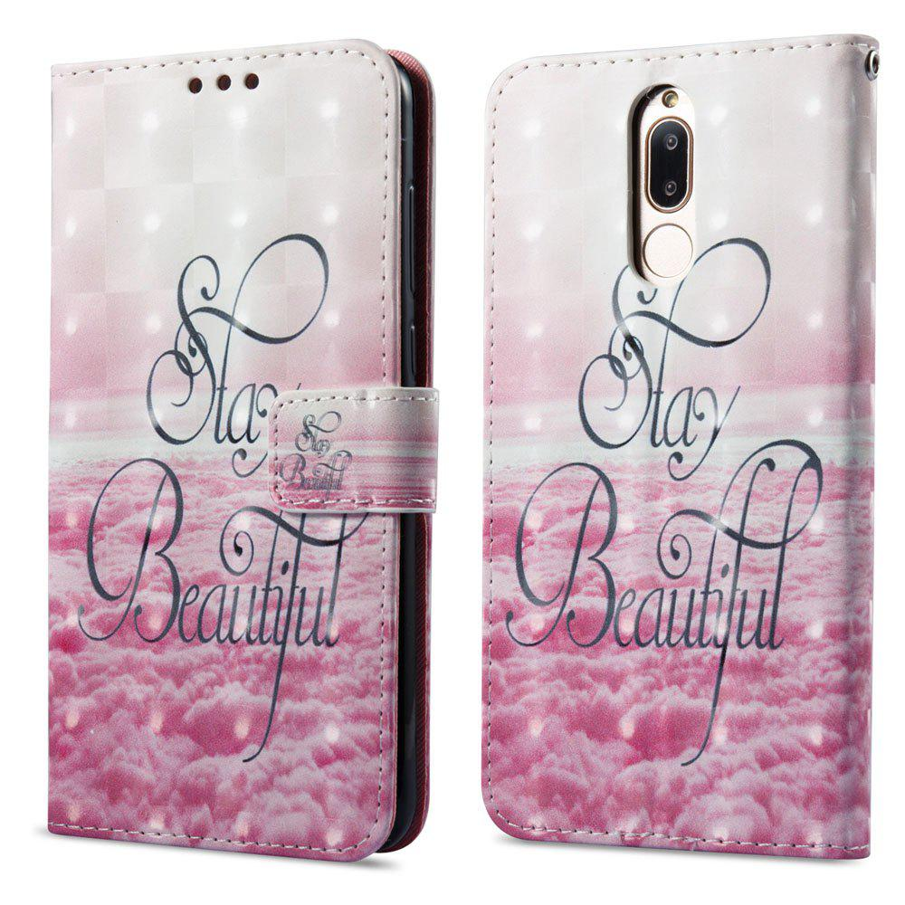 Unique 3D Painting Filp Case for Huawei Mate 10 Lite Pink Cloud Pattern PU Leather Wallet Stand Cover