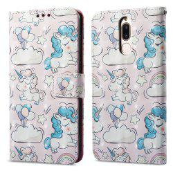 3D Painting Filp Case for Huawei Mate 10 Lite Pink Pony Pattern PU Leather Wallet Stand Cover -