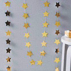 1PC Star-Shaped Paper Garlands 4M Colorful Bunting Home Wedding Party Banner Hanging Paper Garland Shower Room -