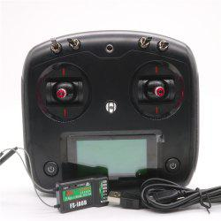 Flysky FS - I6S Digital Proportional Radio Control System with FS-IA6B Receiver Throttle Tension Bar for Racing Drones -