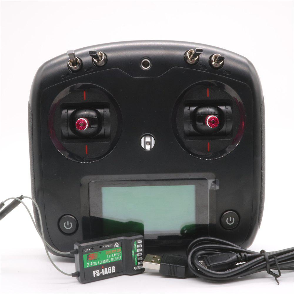 Latest Flysky FS - I6S Digital Proportional Radio Control System with FS-IA6B Receiver Throttle Tension Bar for Racing Drones