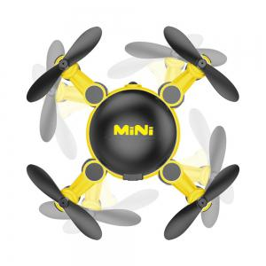 Mini Foldable RC Quadcopter Drone with Camera / 6 Axis Gyro / 360 Degree Roll -