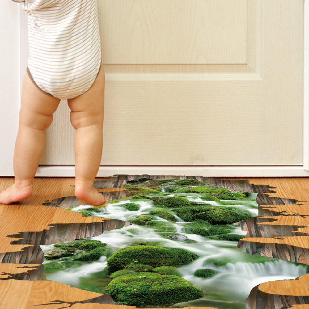 Affordable 3D Stream Floor Wall Sticker Removable Mural Decals