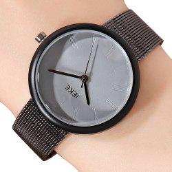 IEKE88007 Rome Word Belt Ladies Women Stylish Luxury Brand Steel Quartz Watch -
