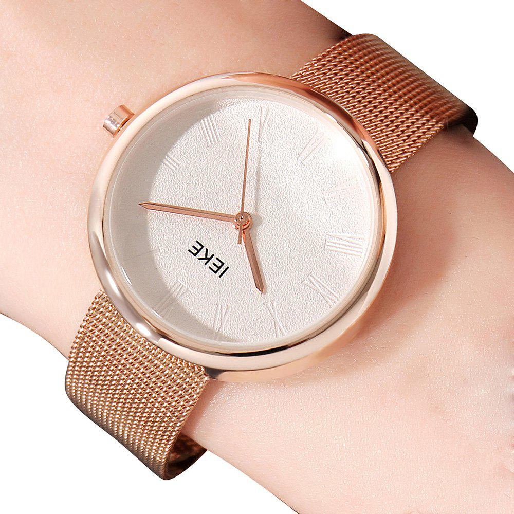 Outfit IEKE88007 Rome Word Belt Ladies Women Stylish Luxury Brand Steel Quartz Watch