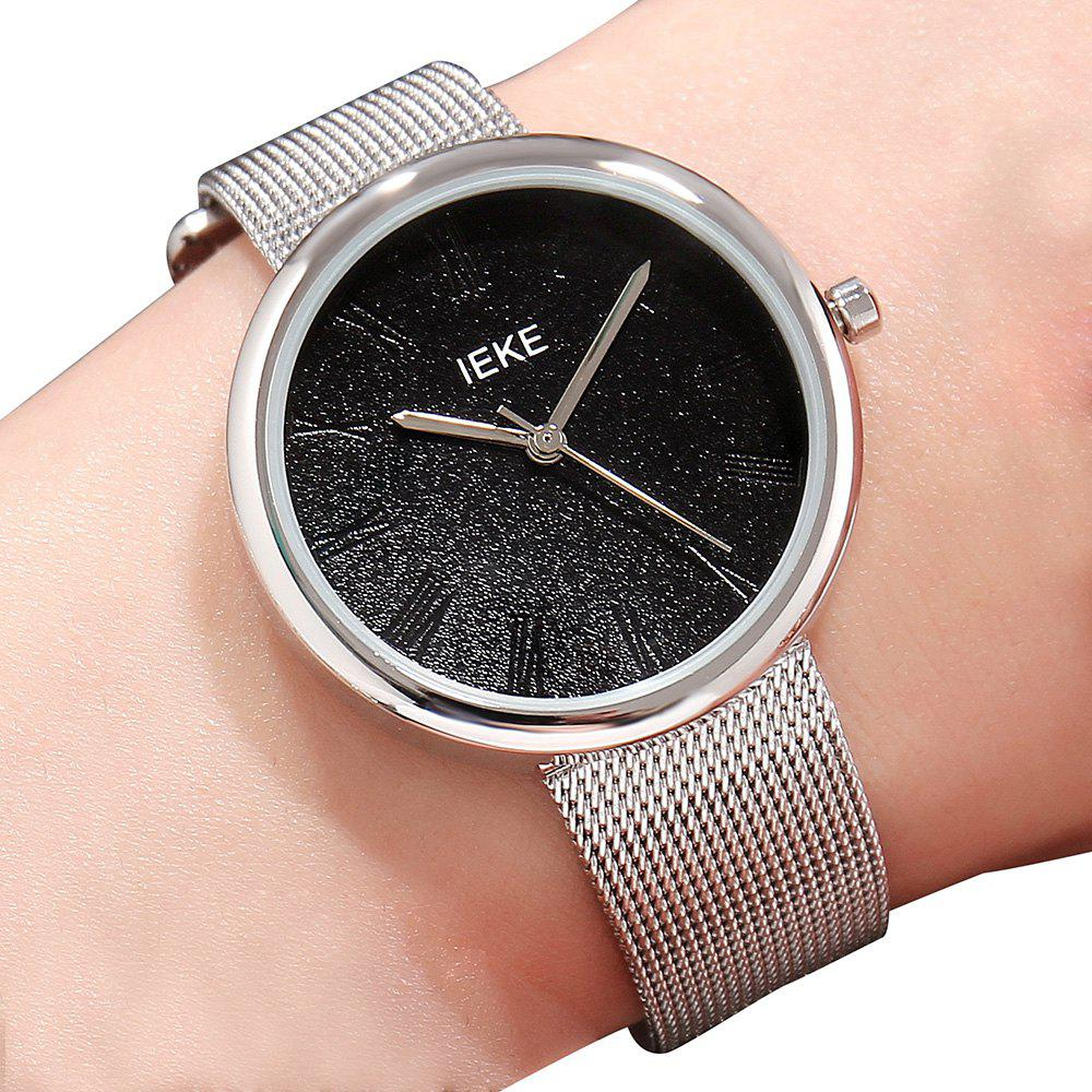 Discount IEKE88007 Rome Word Belt Ladies Women Stylish Luxury Brand Steel Quartz Watch
