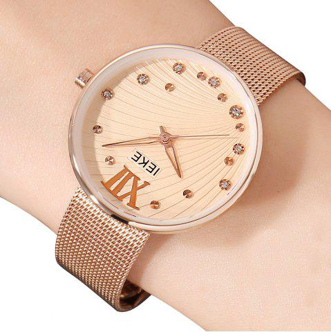 Shops IEKE 88010 The New Network with Diamond Ladies Female Fashion Brand Steel Quartz Watch