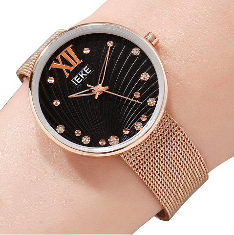 Outfit IEKE 88010 The New Network with Diamond Ladies Female Fashion Brand Steel Quartz Watch
