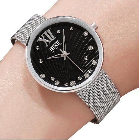 Discount IEKE 88010 The New Network with Diamond Ladies Female Fashion Brand Steel Quartz Watch