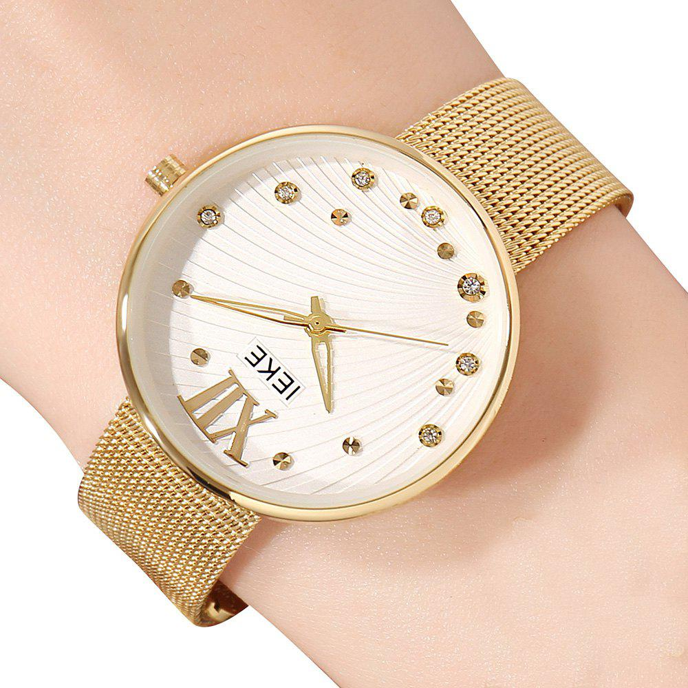 Fashion IEKE 88010 The New Network with Diamond Ladies Female Fashion Brand Steel Quartz Watch