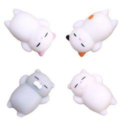 Kawaii Cute Mini Cat Slow Rising Soft Squishy Stress Reliever Decompression Toy for Kids Fidget Toy Gift 4PCS -