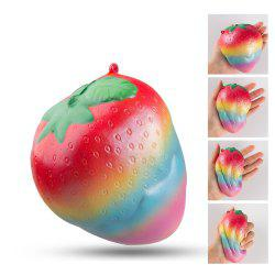 Colorful Slow Rising Toy Rainbow Strawberry Squishy Cream Scented Bread Decompression Squeeze Toys -