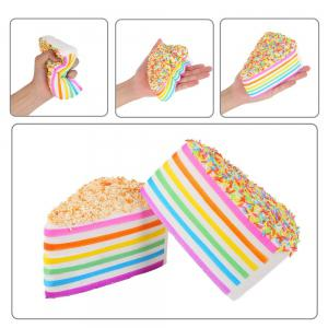 Colorful Squishy Colossal Triangle Cake Sugar Cream Super Squishies Slow Rising Scented Bread Squeeze Toy Gift -