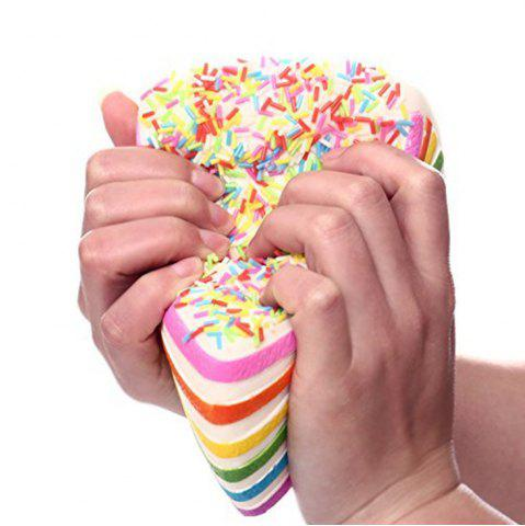 Fancy Colorful Squishy Colossal Triangle Cake Sugar Cream Super Squishies Slow Rising Scented Bread Squeeze Toy Gift