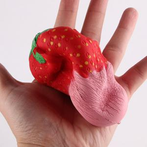 New Squeeze Stretch Squishy Strawberry Fruit Scented Slow Rising Gift Toy for Kids -