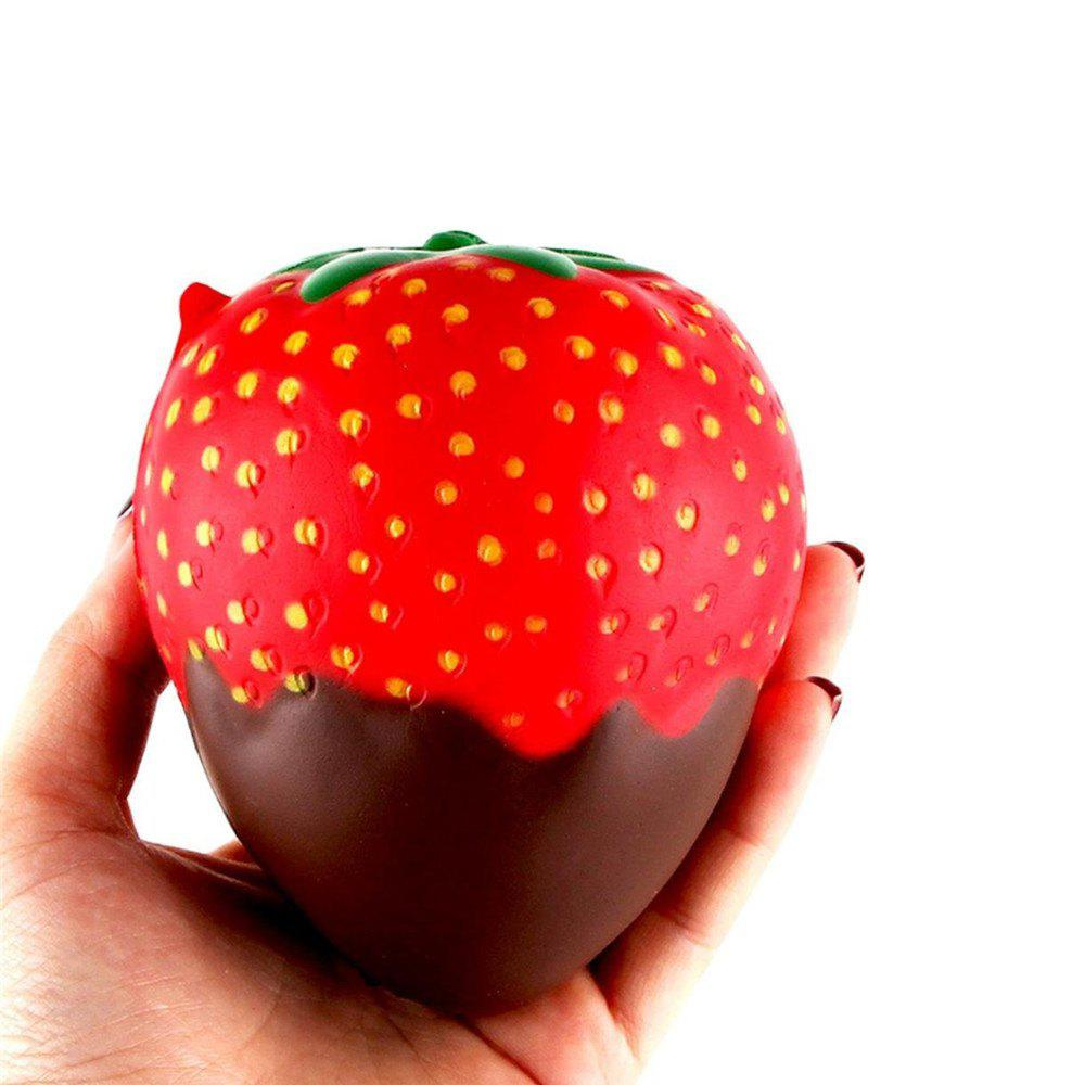 Trendy New Squeeze Stretch Squishy Strawberry Fruit Scented Slow Rising Gift Toy for Kids