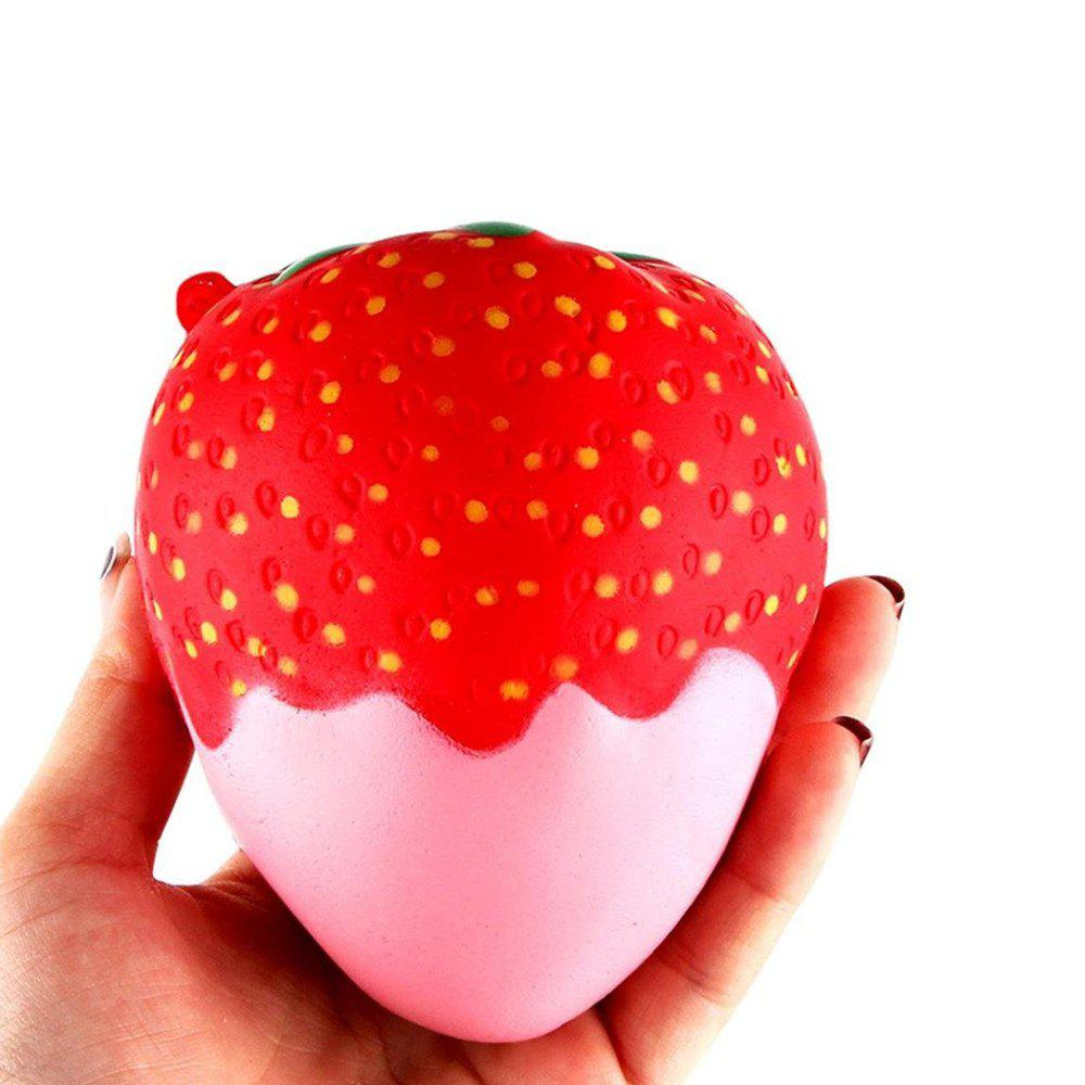Hot New Squeeze Stretch Squishy Strawberry Fruit Scented Slow Rising Gift Toy for Kids