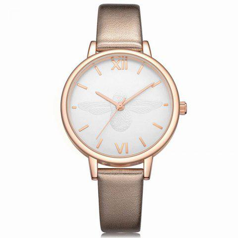 Latest Xinge XG1097 Women Leather Strap Bee Dial Quartz Watches with Box