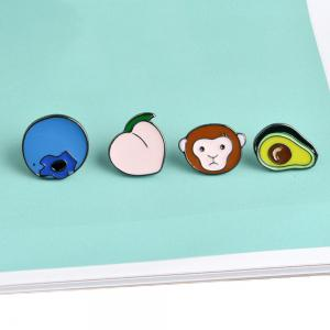 Cute Monkey Blueberry Alloy Peach Avocado Oil Metal Brooch, Jewelry Brooch Wholesale Decoration For Women Gift -