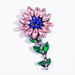 Fashion Handmade Shiny Crystal Flower Brooch Brooches Colorful Summer Style For Women Party Jewelry -