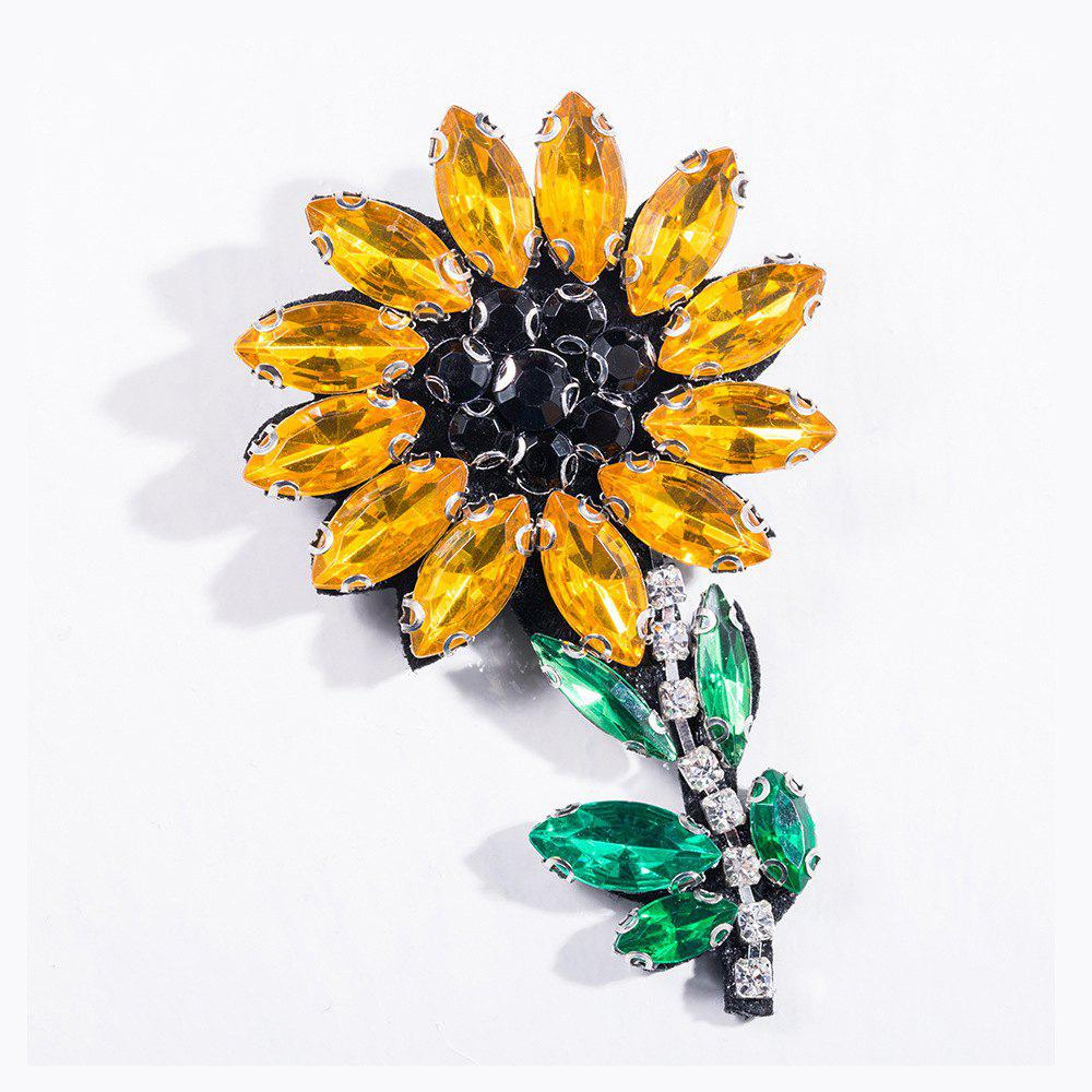 Discount Fashion Handmade Shiny Crystal Flower Brooch Brooches Colorful Summer Style For Women Party Jewelry