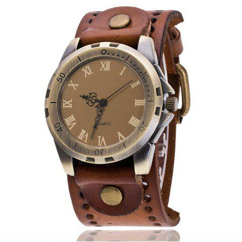 Store Retro Numeral Roman Women Leather Casual Sport Watch Quartz