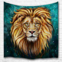 Green Lion King 3D Digital Printing Home Wall Hanging Nature Art Fabric Tapestry for Bedroom Living Room Decorations -