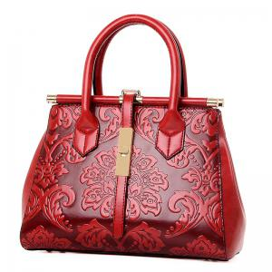 Embossed Chinese Style Hand-Shoulder Ladies Messenger Bag -