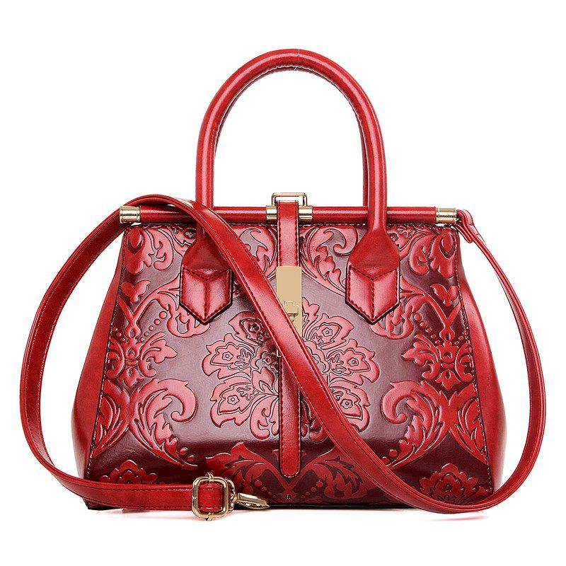 Discount Embossed Chinese Style Hand-Shoulder Ladies Messenger Bag