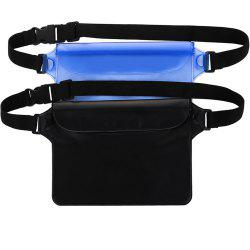 Portable Durable Waterproof Pouch Dry Bag with Adjustable Strap Perfect for Beach Pool Swimming Boating 2-Pack -