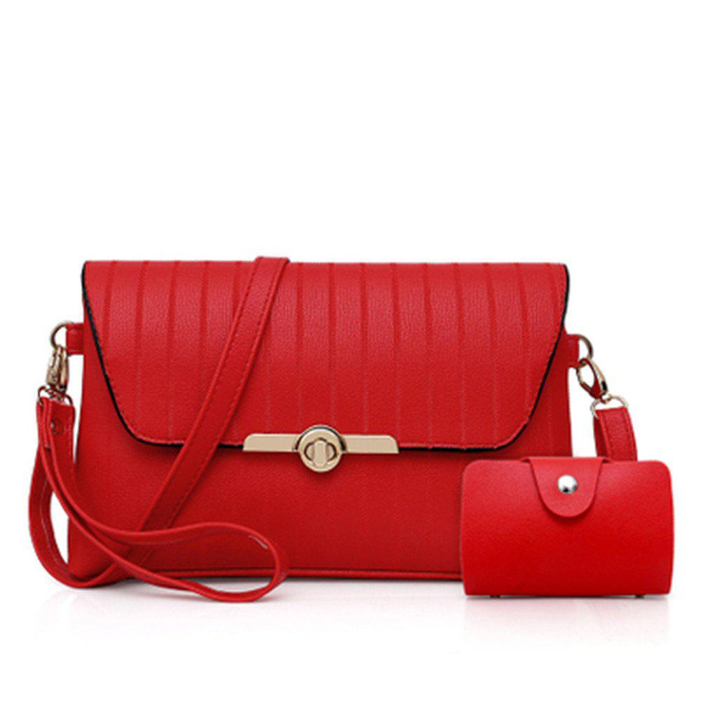 New female embroider line one shoulder inclined across the envelope bag