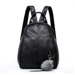 Wild Soft Leather Backpack Fashion Casual Bag -