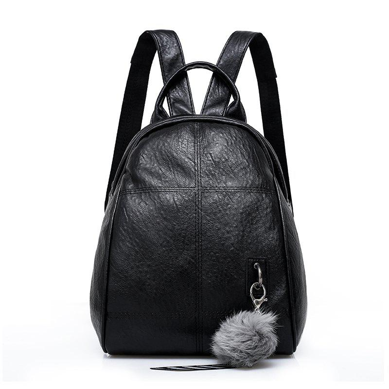 Outfits Wild Soft Leather Backpack Fashion Casual Bag