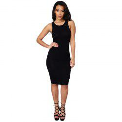 Daifansen Sleeveless T-Shirt Sexy Halter Dress -