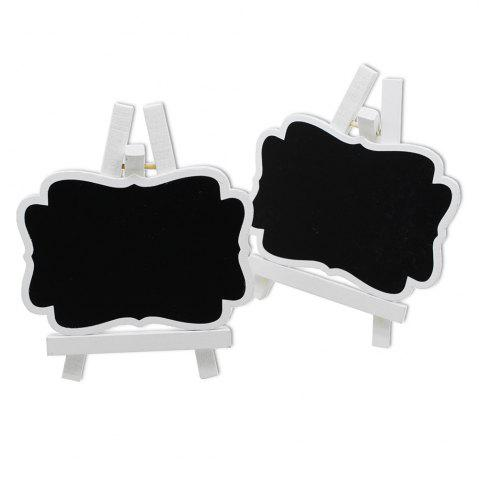 Outfit 170928 White Wooden Frame Small Blackboard Removable Wooden Crafts Wedding Decoration (10 Pack)