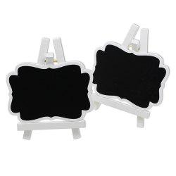 170928 White Wooden Frame Small Blackboard Removable Wooden Crafts Wedding Decoration (10 Pack) -