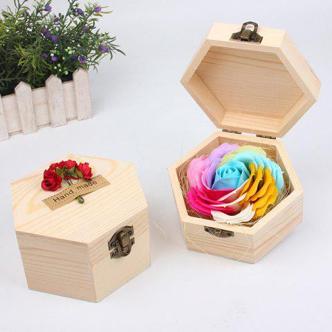 Best Soap Flower Sweet Solid Artificial Rose Flower With Wooden Box