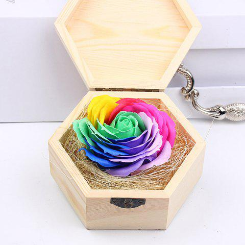 Latest Soap Flower Sweet Solid Artificial Rose Flower With Wooden Box