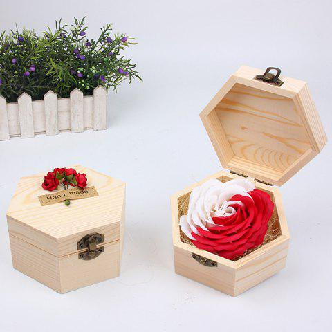 Affordable Soap Flower Sweet Solid Artificial Rose Flower With Wooden Box