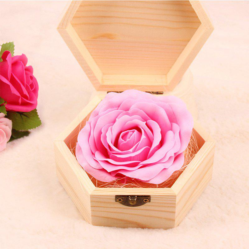 Fancy Soap Flower Sweet Solid Artificial Rose Flower With Wooden Box