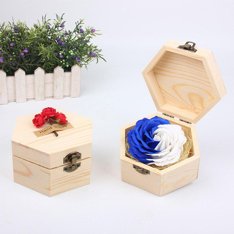 Hot Soap Flower Sweet Solid Artificial Rose Flower With Wooden Box